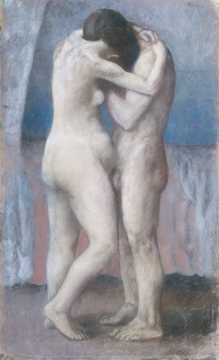 L'Etreinte (1903), Pablo Picasso. Photo © RMN-Grand Palais (Musée d'Orsay) / Hervé Lewandowski © Succession Picasso 2018