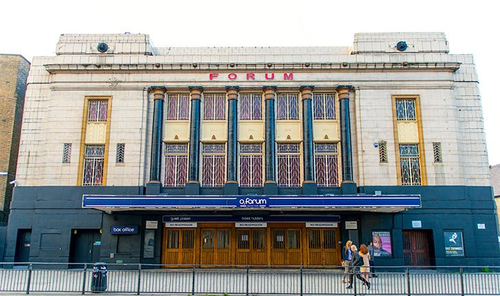 The O2 Forum in Kentish Town, London.