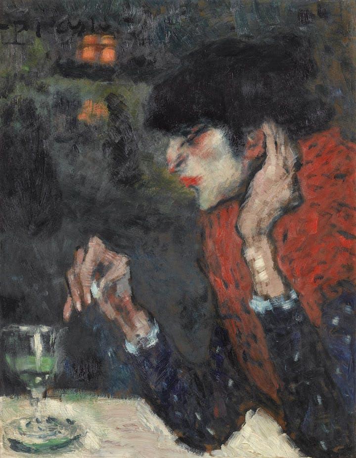 La Buveuse d'absinthe (1901), Pablo Picasso. Photo © Musée d'Orsay, Dist. RMN-Grand Palais / Patrice Schmidt © Succession Picasso 2018