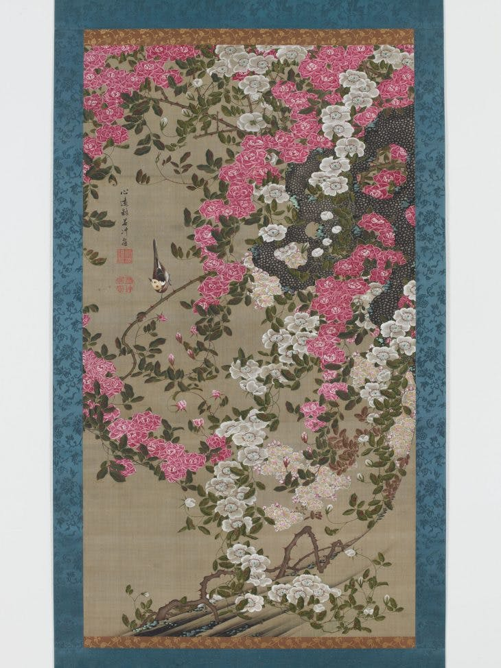 Roses and Birds, Itō Jakuchū.