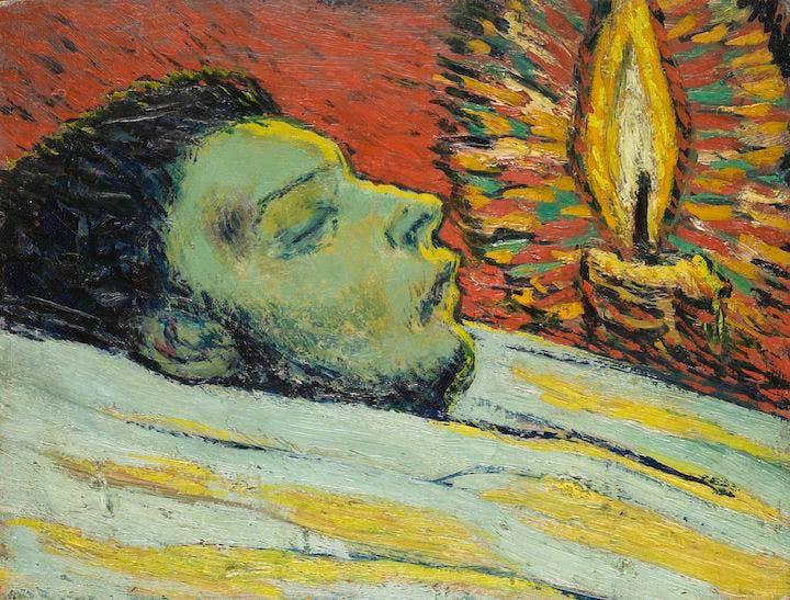 La Mort de Casagemas (1901), Pablo Picasso. Photo © RMN-Grand Palais (Musée national Picasso-Paris) / Mathieu Rabeau © Succession Picasso 2018