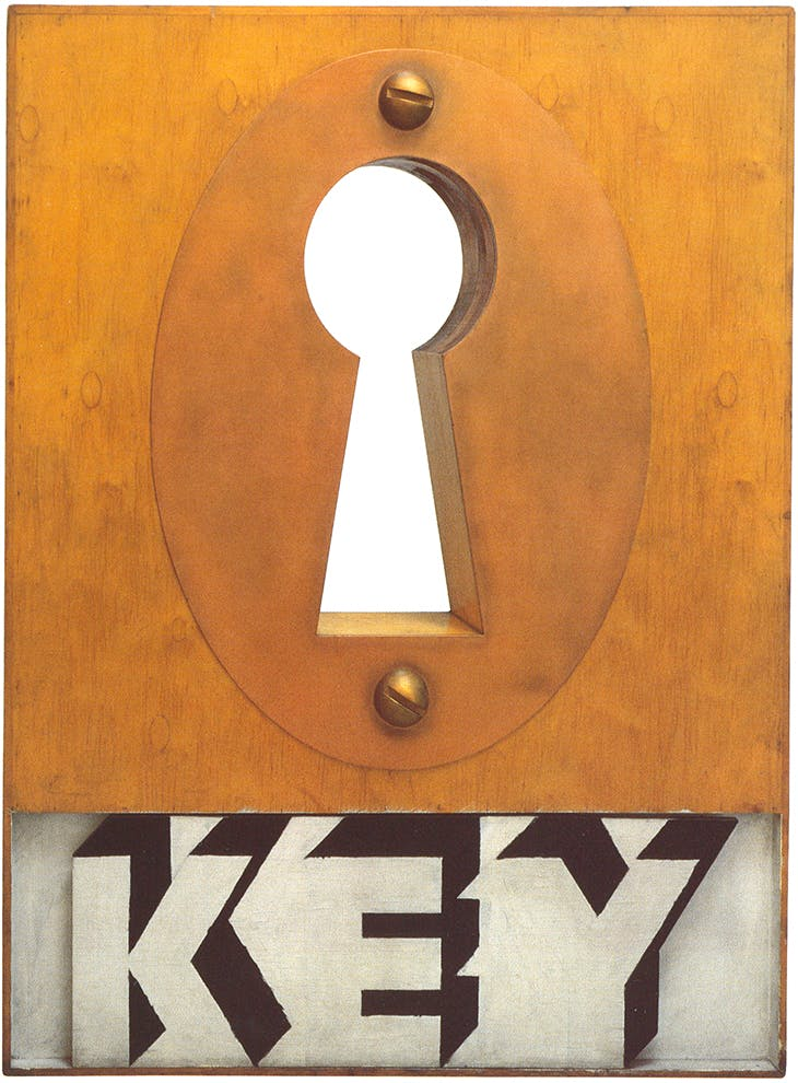 Key Box (1963), Joe Tilson.