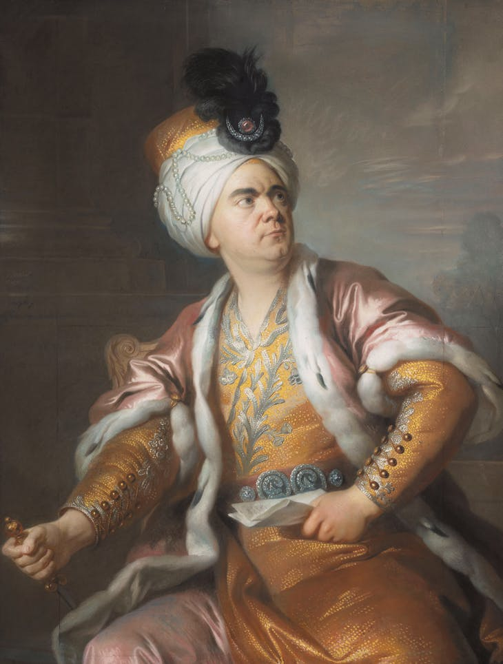 The actor Henri Louis Cäin, in the role of Orosmane in Voltaire's tragedy Zaïre (1769), Simon-Bernard Lenoir. Musée du Louvre, Paris.