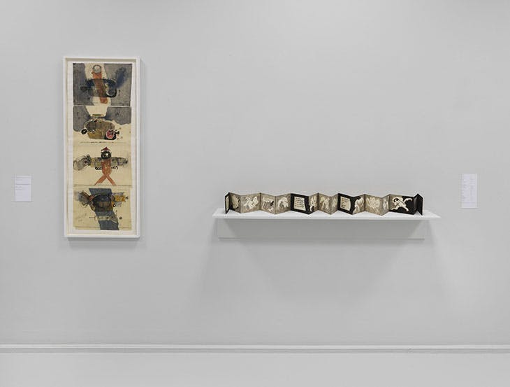 Installation view of 'Geta Brătescu', Neuer Berliner Kunstverein, 2018.