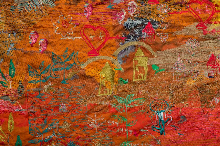 Ground – Thread Bearing Witness (detail) (2018), Alice Kettle.