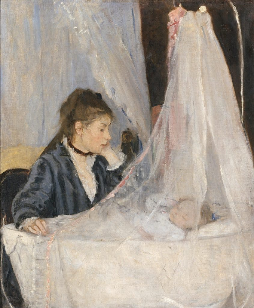 The Cradle, 1872, Berthe Morisot, Musée d'Orsay, Paris