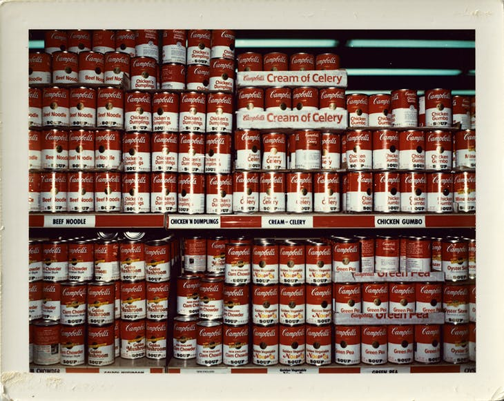 Campbell Soups, New York, 1975, Wim Wenders, courtesy the artist and Blaim|Southern; © Wim Wenders
