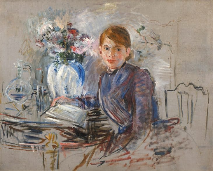 Young Girl with a Vase, (1889), Berthe Morisot. Private collection, photo: Studio Thierry Jacob