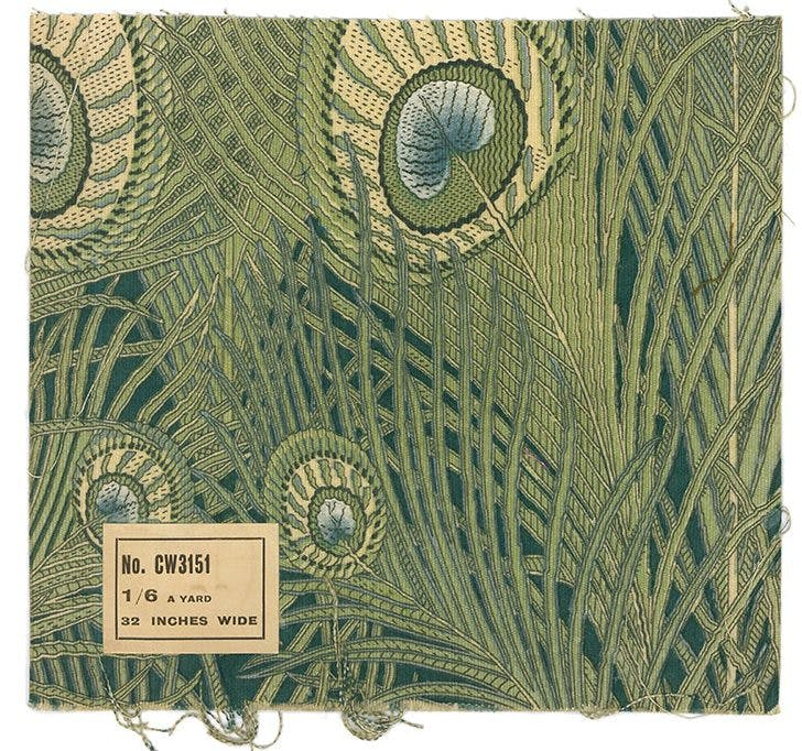 Hera print (c. 1905, reprinted c. 1980), designed by Christopher Dresser