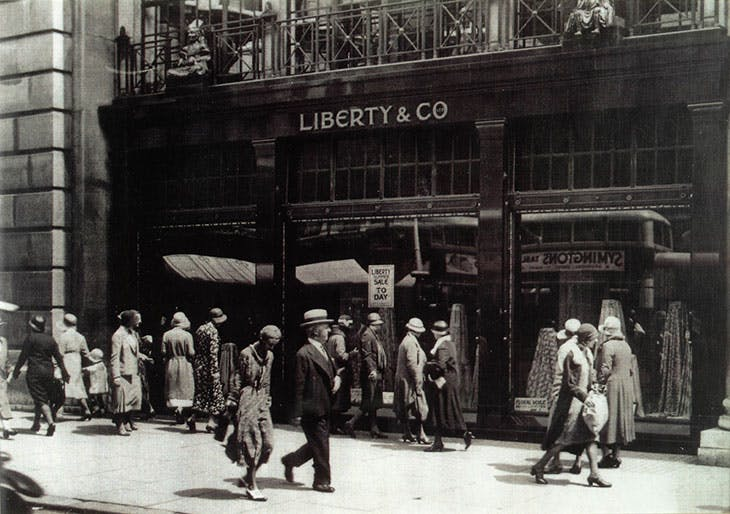 The Liberty of London department store on Regent Street, London, in c. 1925, Regent Street, London.