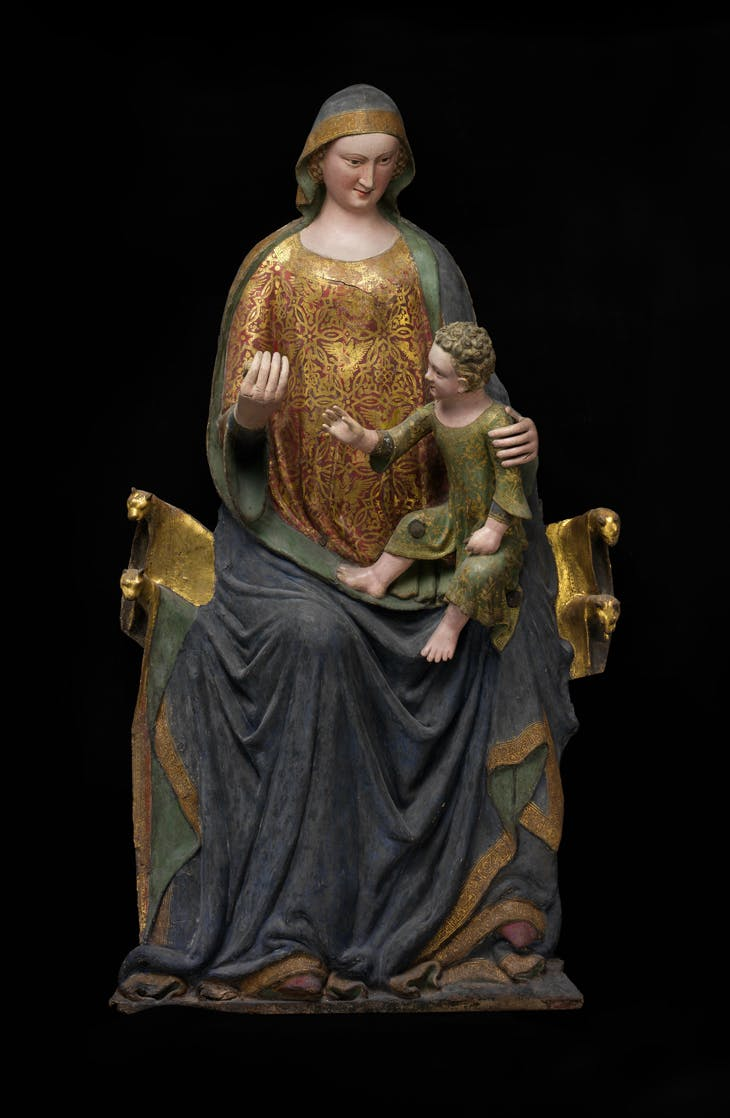 Enthroned Virgin and Child (mid 14th century), Italy.