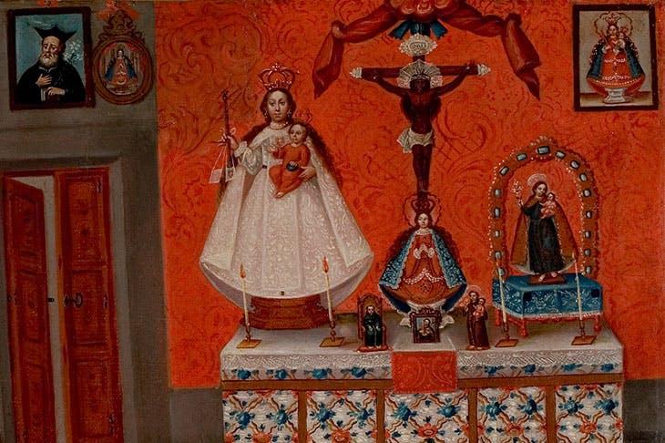 Ex-voto of Josefa Peres Maldonado (detail; 1777), probably Aguascalientes, Mexico.