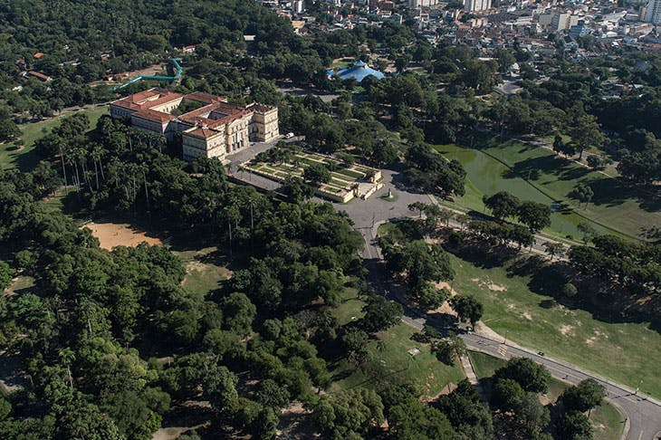An arial view of the National Museum of Brazil in the Quinta da Boa Vista park in Rio de Janeiro, Brazil, photographed in 2014.