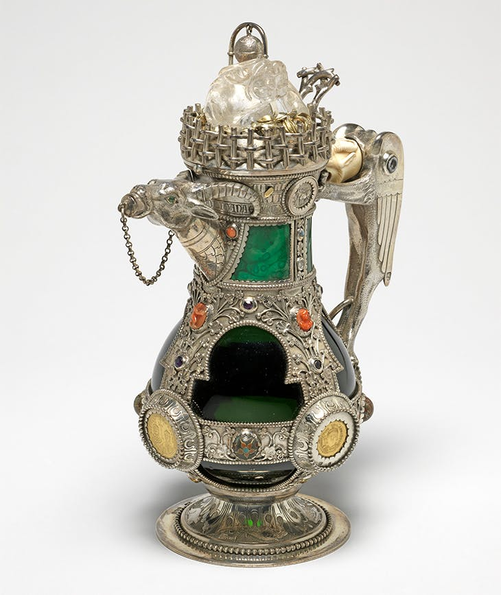 Decanter (1865–66), designed by William Burges with mounts made by George Angell and Josiah Mendelson.