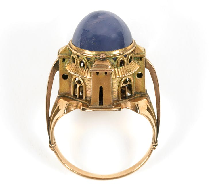 Sabbatai ring (1904), designed by Charles de Sousy Ricketts, probably made by Carlo & Arthur Giuliano.