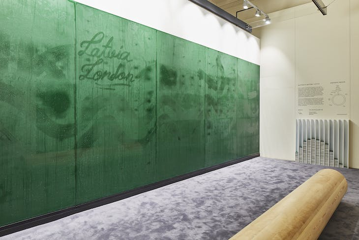Installation view of Matter to Matter by Arthur Analts (Latvia) at the London Design Biennale.