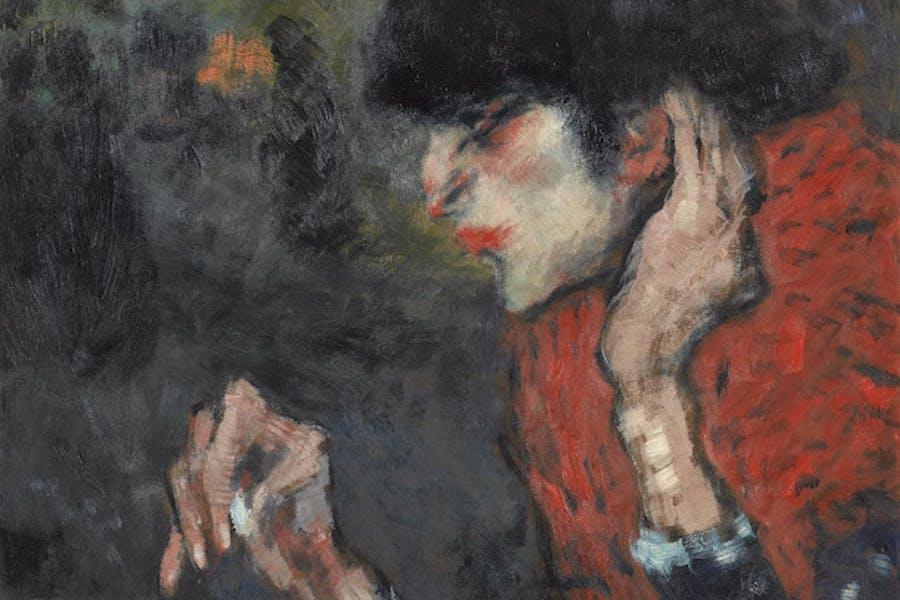 La Buveuse d'absinthe (detail; 1901), Pablo Picasso. Photo © Musée d'Orsay, Dist. RMN-Grand Palais / Patrice Schmidt © Succession Picasso 2018
