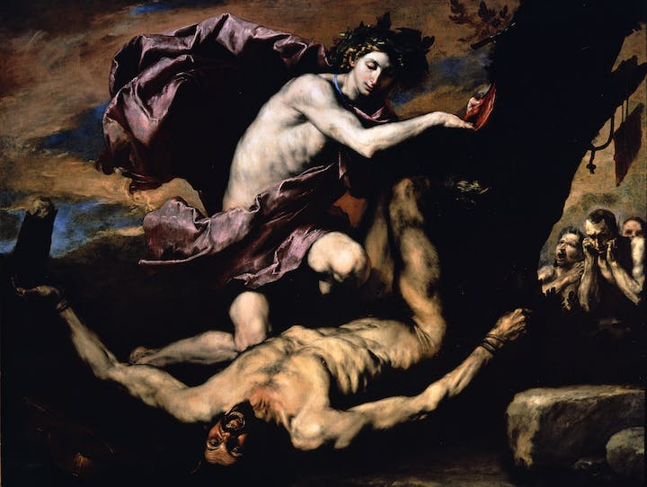 Apollo and Marsyas (1637), Jusepe di Ribera. Photo: Museo e Real Bosco di Capodimonte