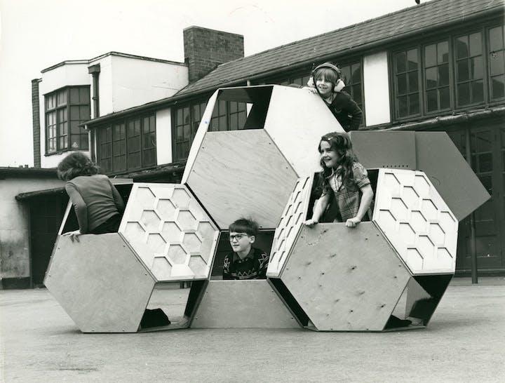 Tetrakaidecahedral (movable playground; 1973-75), Victor Papanek. © University of Applied Arts Vienna, Victor J. Papanek Foundation