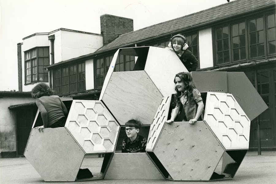 Tetrakaidecahedral (movable playground; 1973-75), Victor Papanek. © University of Applied Arts Vienna, Victor J. Papanek Foundation