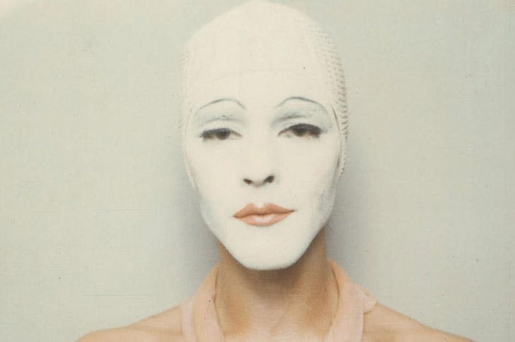 Renais sense (White Mask) (detail; 1974/2014), Ulay.