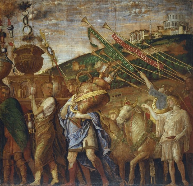 The Triumphs of Caesar IV: The Vase-Bearers, Andrea Mantegna