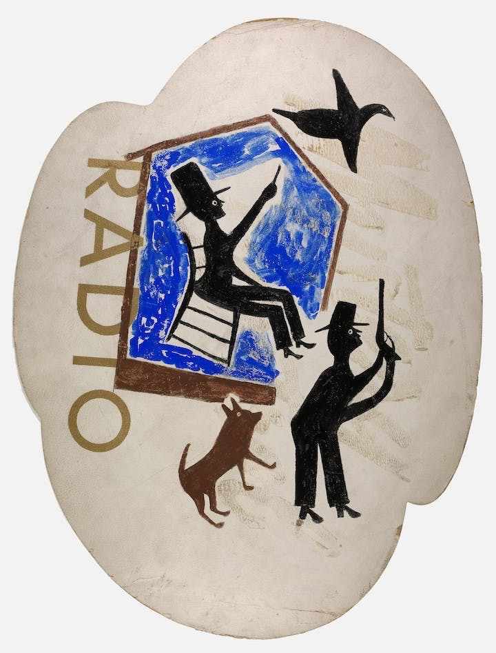 Untitled (Radio) (ca. 1940-42), Bill Traylor. Smithsonian American Art Museum, Photo by Gene Young
