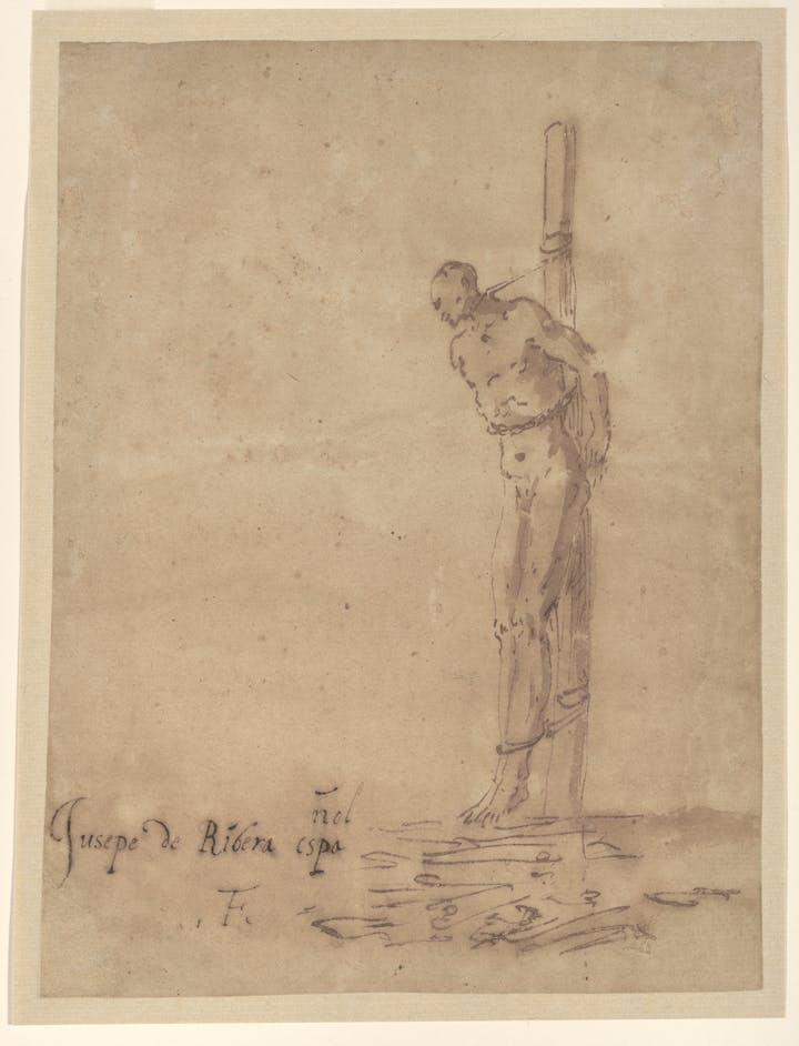 Man Bound to a Stake (early 1640s), Jusepe di Ribera. © Fine Arts Museum of San Francisco