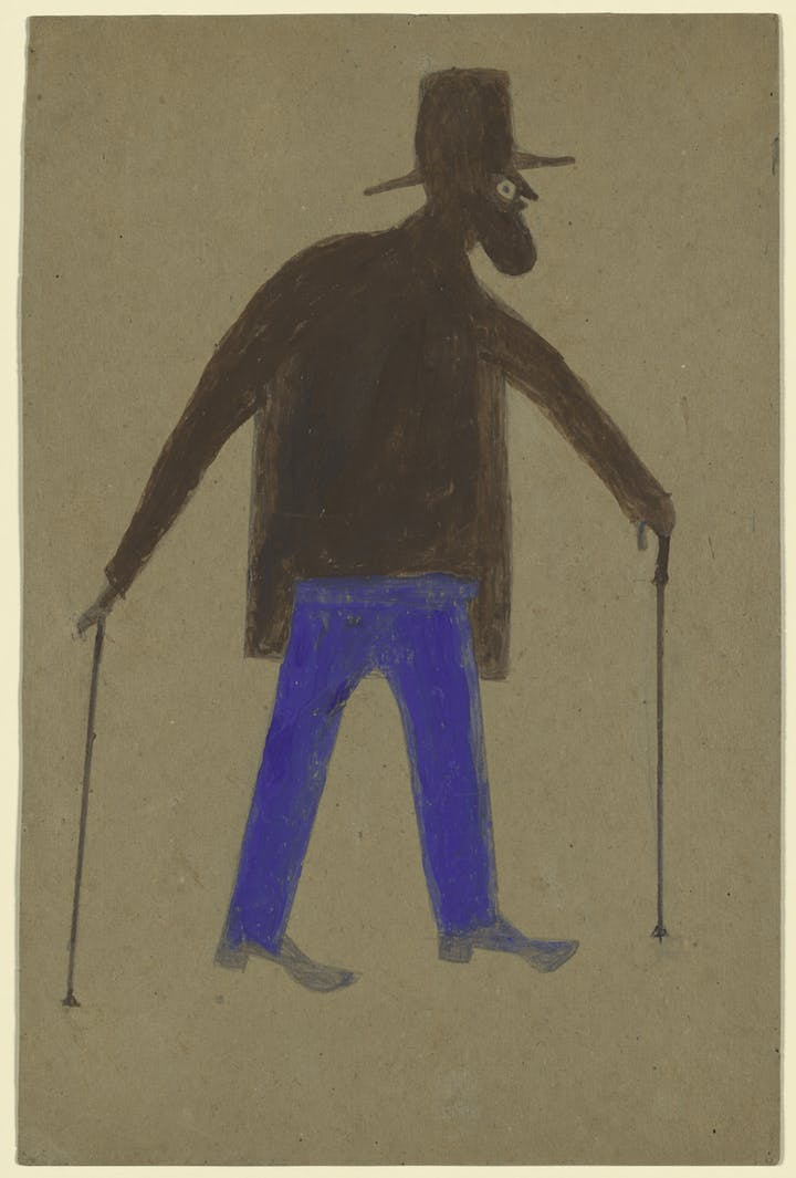 Self-Portrait (ca. 1939-40), Bill Traylor. © The Metropolitan Museum of Art. Image source: Art Resource, NY