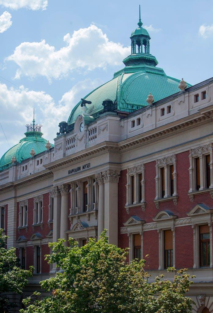The National Museum in Belgrade.