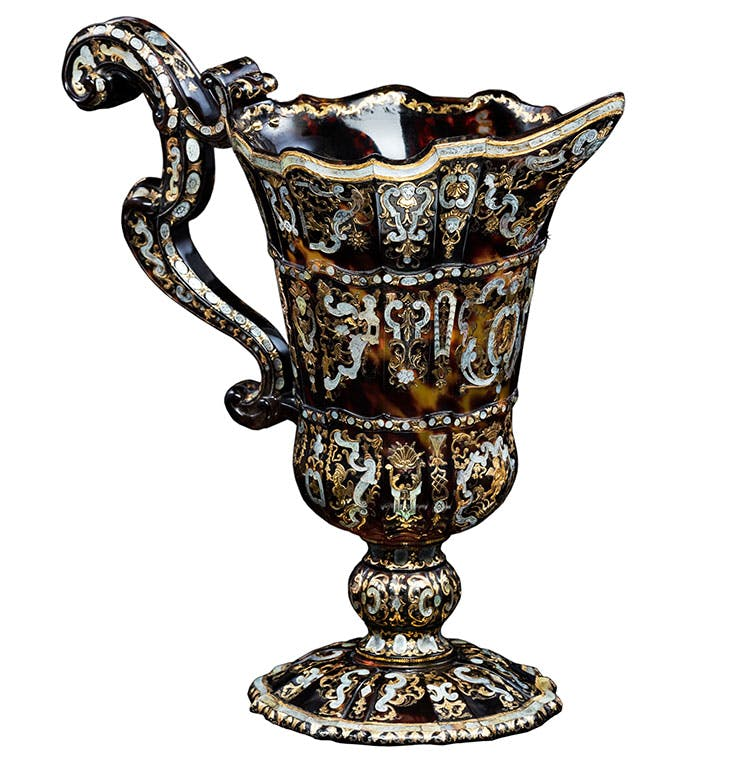 Elaborately shaped ewer with pelmet motifs (c. 1735–34), Giuseppe Sarao.