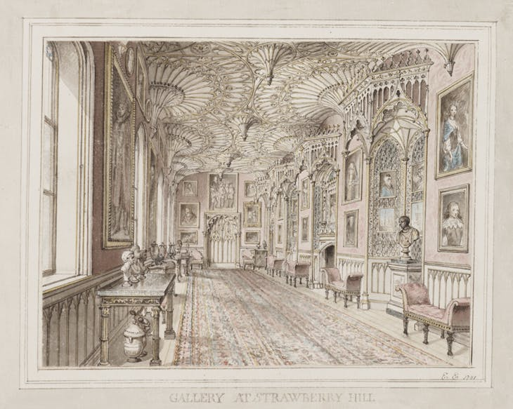 The Gallery at Strawberry Hill, Edward Edwards