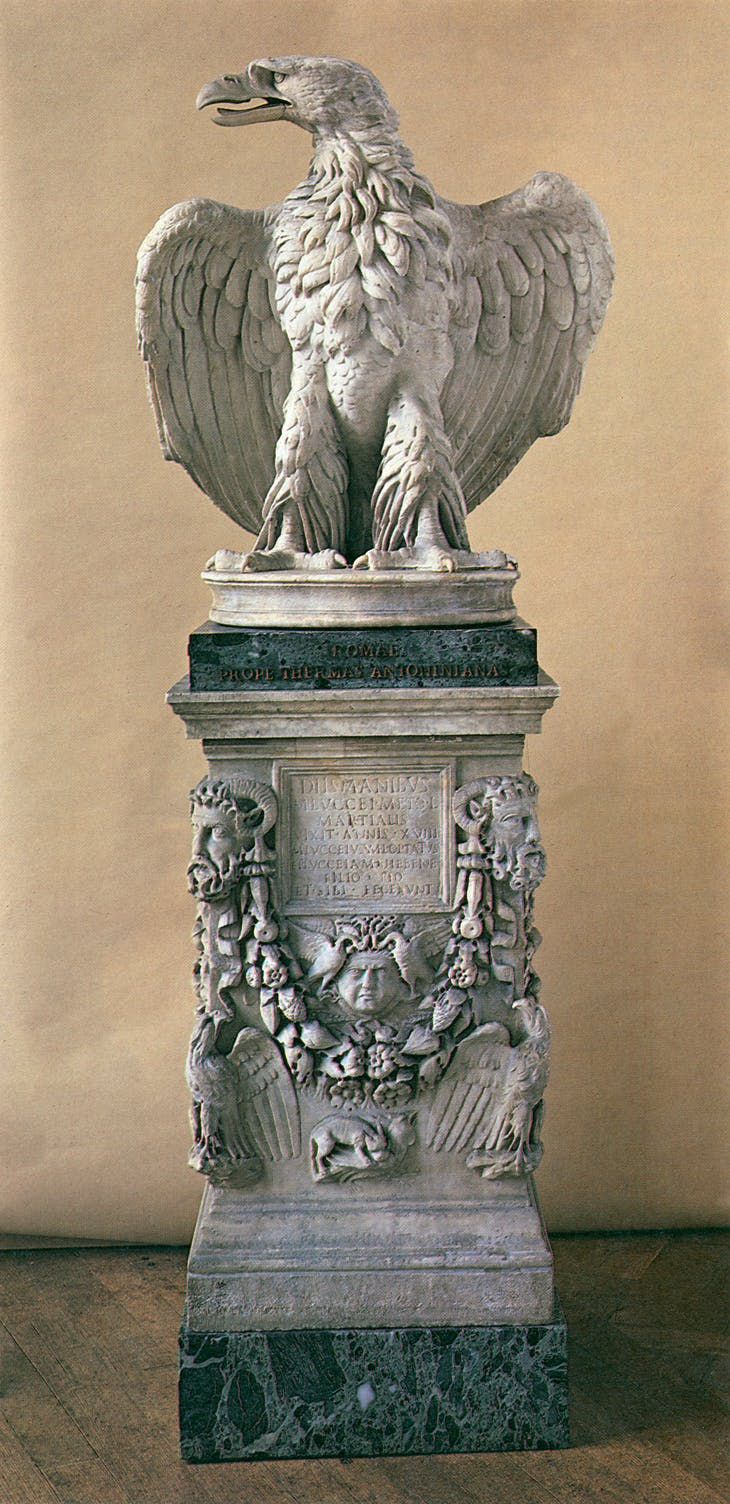 Eagle on an altar base (1st century), Roman. Early of Wemyss and March, Gosford House, East Lothian.