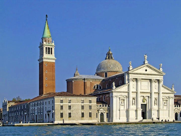 The church on San Giorgio Maggiore, the Venetian island.