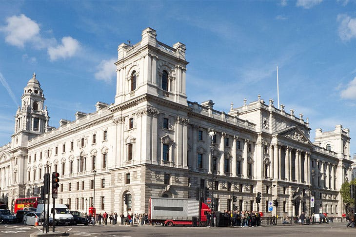 Government offices on Great George Street, London, England.