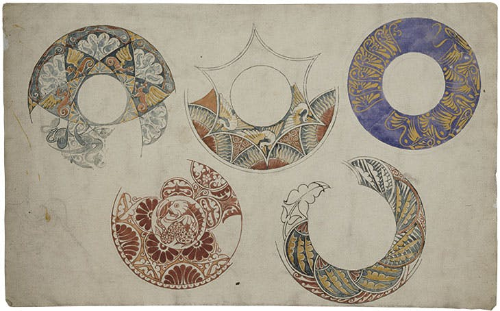 Border designs for ceramics (late 19th century), William de Morgan.