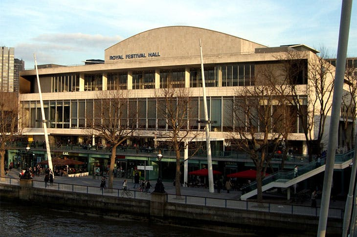 The Royal Festival Hall at the Southbank Centre, London.