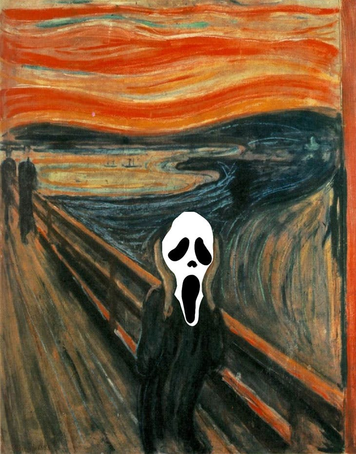 Ghostface meets The Scream?