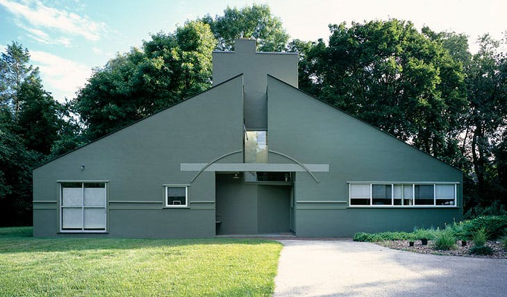 Vanna Venturi House in Chestnut Hill, Philadelphia, Pennsylvania.