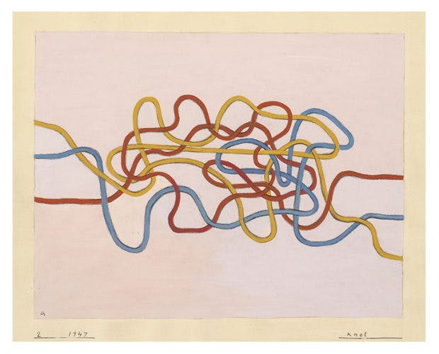 Knot, (1947), Anni Albers. The Josef and Anni Albers Foundation, Bethany, Connecticut, © 2018 Josef and Anni Albers Foundation/Artists Rights Society (ARS), New York/DACS, London