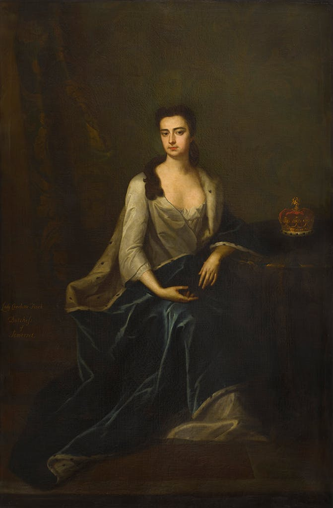 Charlotte Duchess of Somerset, (1720–40), attributed to Charles D'Agar, courtesy Lord Egremont.