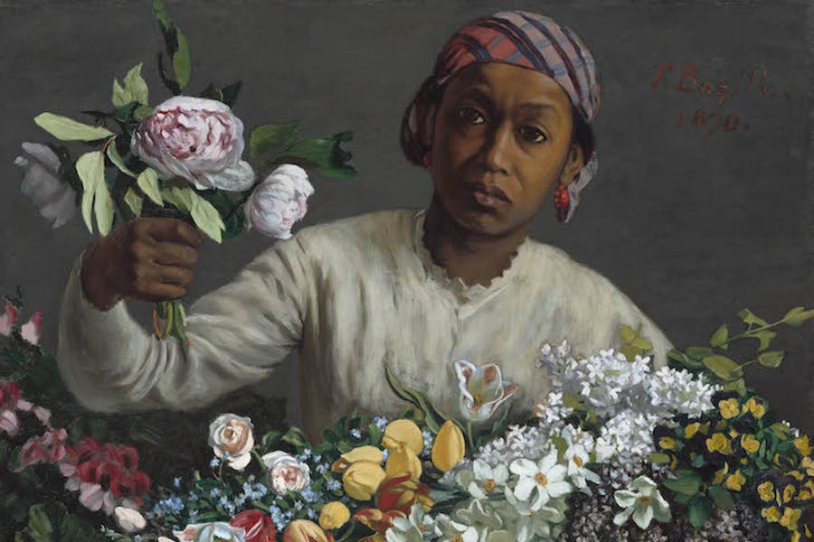 Young Woman with Peonies, Frédéric Bazille