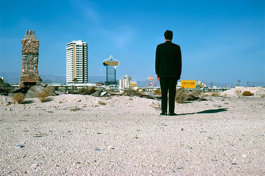 Robert Venturi in Las Vegas in 1968.