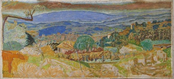 Landscape at Le Cannet, Pierre Bonnard