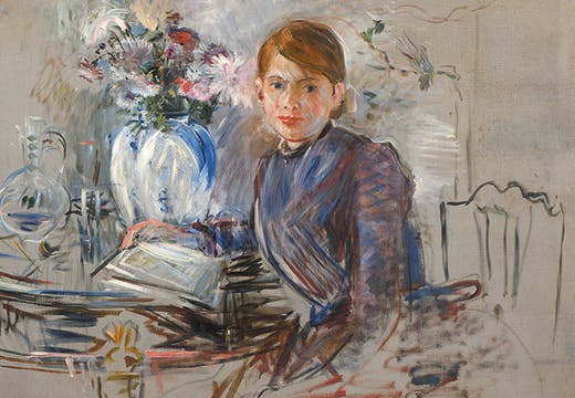 Young Girl with a Vase (detail; 1889), Berthe Morisot. Private collection.