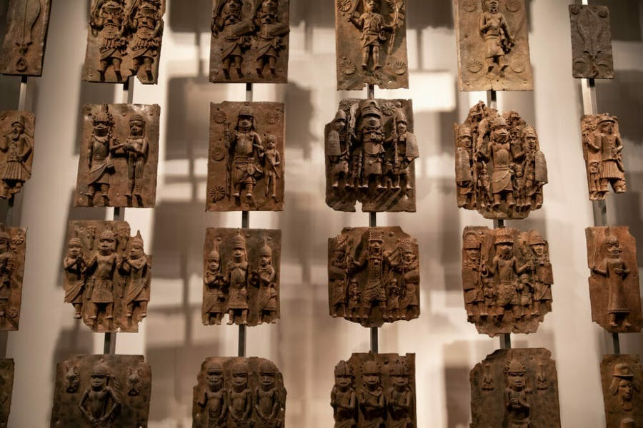 The Benin Bronzes, installed in the British Museum, London.