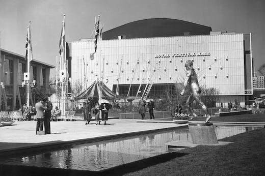The Royal Festival Hall photographed on 12 May 1951, during the Festival of Britain.