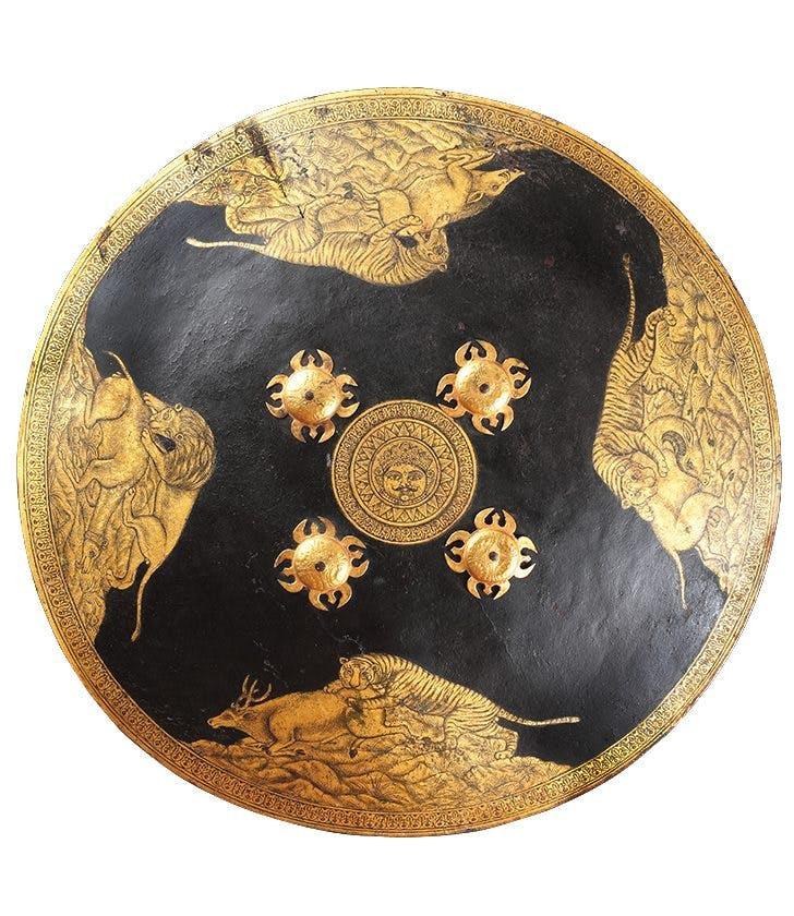 Dhal Shield (late 18th century), Mewar (Udaipur), Rajasthan, India.
