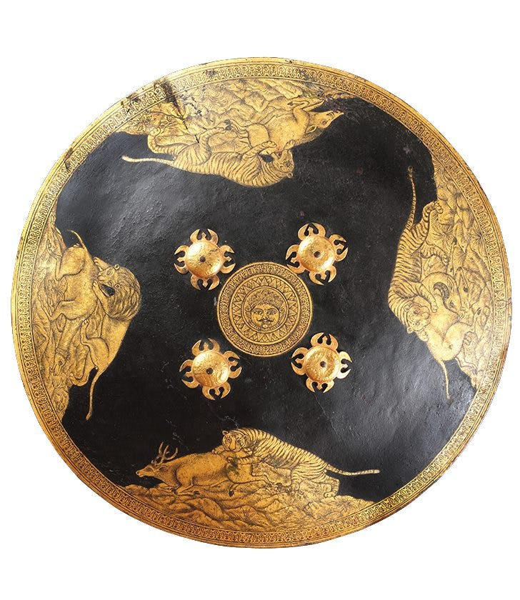 Dhal Shield (late 18th century), Mewar (Udaipur), Rajasthan, India.