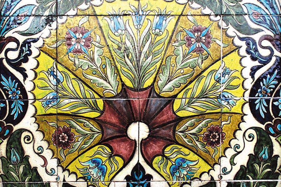 Fan tile panel (detail; 1872–1904), William De Morgan.